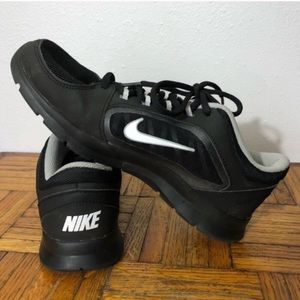 Women's black Nike training sneakers size 7W